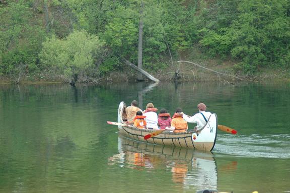 Southwest Brigade's voyager canoe.