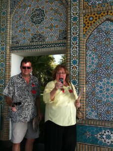 @biznaz and @noelfwilliams at the entrance to Shangri La