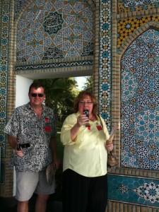@biznaz and @noelfwilliams at the entrance to Shangri La