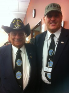Army Veterans Angelo Diliberti and Andy Balafas at Pillars of Honor