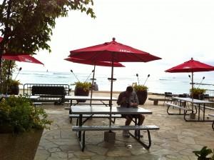 Ocean views at Queen's Surf and Lanai in Waikiki