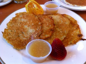 Potato Pancakes at The Rainbow Restaurant and Pancake House