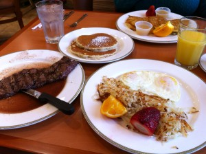 Steak and Eggs at The Rainbow Restaurant and Pancake House
