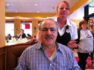 Owner Nick Dimitrelis and server Jan at Rainbow Restaurant and Pancake House