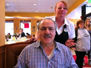 Owner Nick Dimitrelis and server Jan at Rainbow Restaurant and Pancake House