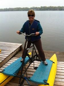 Hydrobiking on Crystal Lake