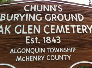 Chunn's Burying Ground Oak Glenn Cemetery Fox River Grove