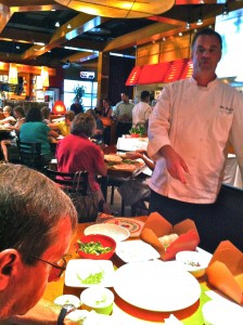 Big Bowl Executive Chef Marc Bernard offers tips to Noel F. Williams