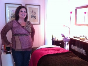Krysten's Relaxing Facial Room at the Powder Room