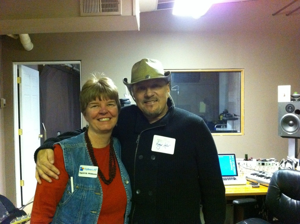 April M. Williams and Roger Adler in his Lakeside Legacy Arts Park studio
