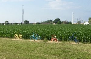 bicycle art along the trail in Milton, IL